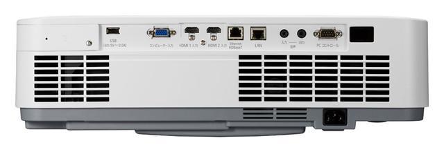 画像: 接続端子HDMI入力を2系統装備(HDCP2.2準拠)