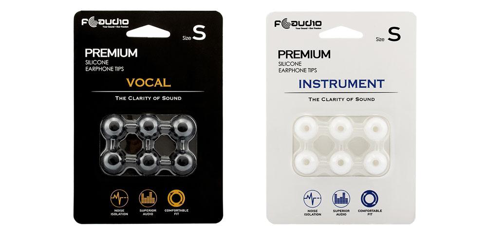 画像: 好みのサウンドチューニングが楽しめるイヤーチップ「FA Vocal」(黒)、「FA Instrument」(白)