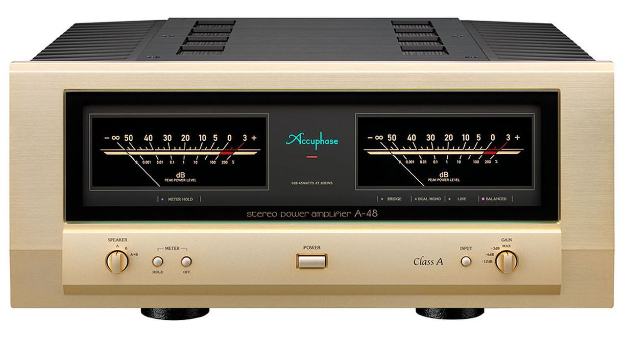 画像1: 純A級パワーアンプが奏でるサウンドを堪能しよう。アキュフェーズのパワーアンプ「A-48」が¥680,000で発売決定。「A-47」以来4年ぶりのモデルチェンジを果たした