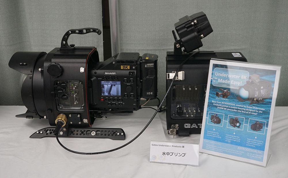 画像: 8Kカメラを収納できる水中ブリンプも展示されていた。これはアストロデザインが特注した物で、100mの水圧に耐えられるそうだ