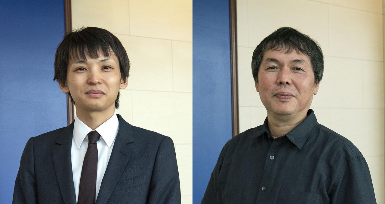 画像: 取材に協力いただいた、kino cinéma 横浜みなとみらい 支配人の佐古和磨さん(左)と、株式会社ジーベックス テクニカルサポート部の松村 茂さん(右)