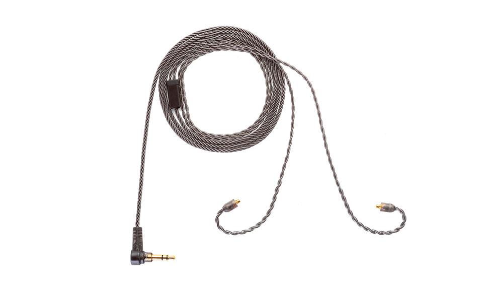 画像: 付属ケーブルはスモーキーカラーで仕上げられている。コネクターはMMCX、プラグは3.5mmステレオミニだ