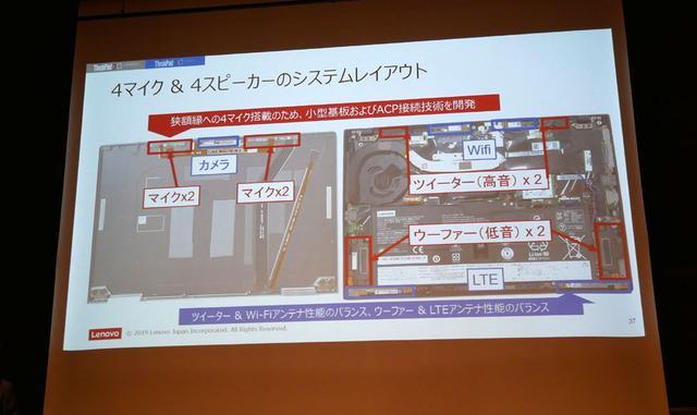 画像2: モバイルでの使い勝手を向上させた、ThinkPadノートのフラッグシップ「X1 Carbon/Yoga」のニューモデルが登場。ドルビーアトモス再生にも対応