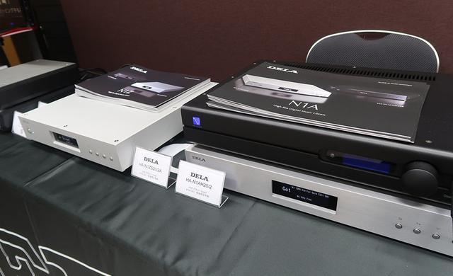 画像: メルコが展開するオーディオブランド、DELA(デラ)。オーディオ専用のNASとして開発されたN1シリーズが展示されたほか、HDDトランスポートの試聴デモも実施した