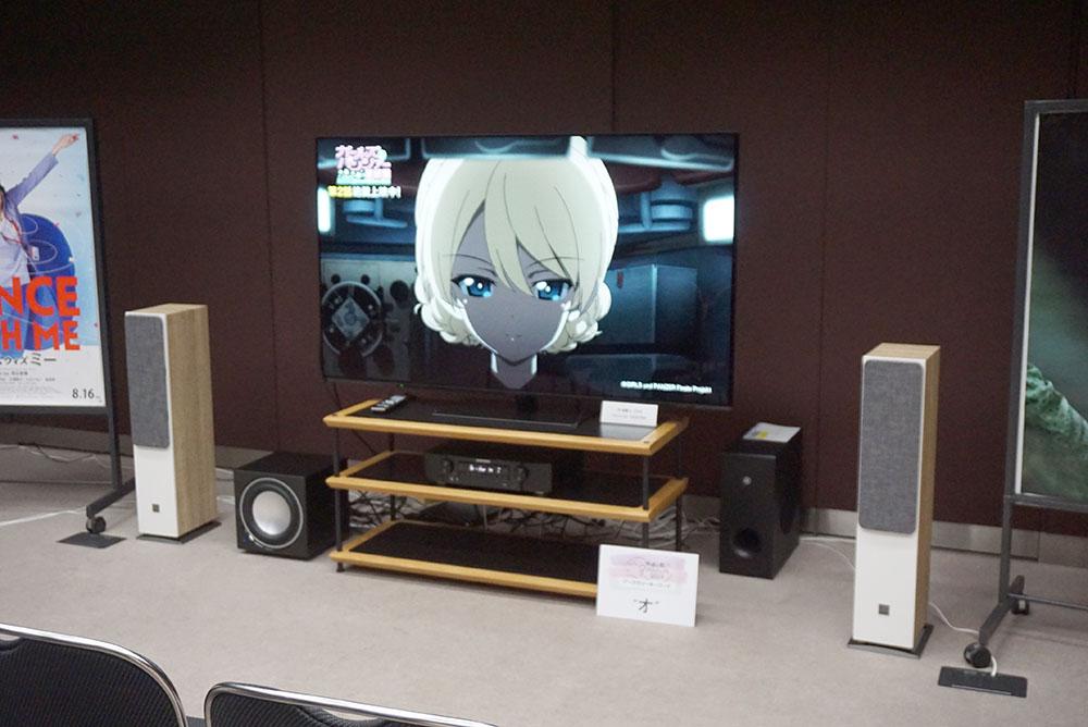 画像: 65インチ有機ELテレビをスタートに、音がよくなることで印象がどのように変化するかを体験してもらうデモ