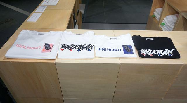 画像: Pop-Up Storeでは、ウォークマンのロゴをあしらったTシャツも販売されている。こちらも限定品とのこと