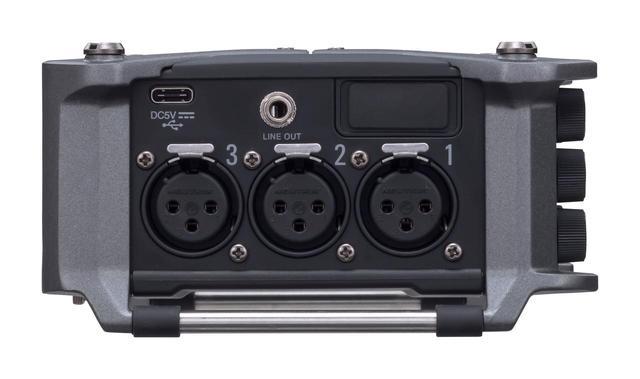 画像: 本体両サイドに3chずつ配備されたXLR端子 (製品本体:右側)