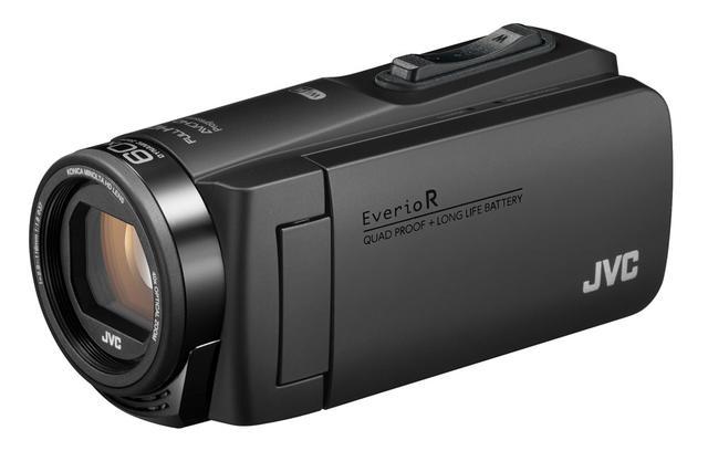画像: JVCのビデオカメラの新製品「GZ-RX690」。カラーリングはブラックとオレンジの2色を用意