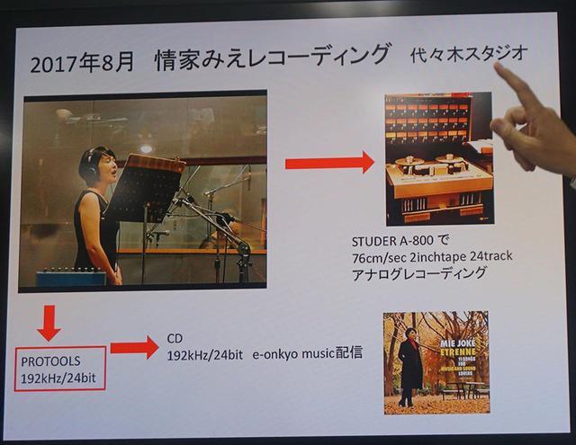 画像: 試聴で使った4種類の音源の作り分け方も紹介された
