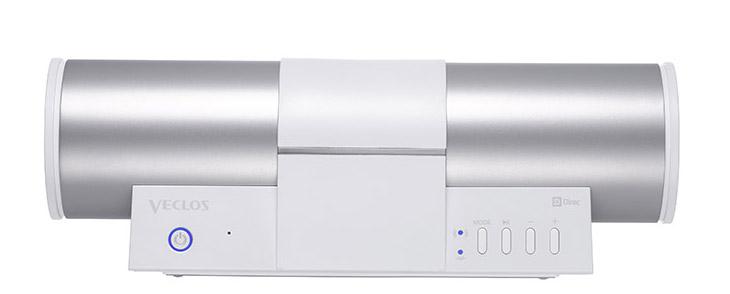 画像: ▲SPW-500WPの横幅は約261mm。たとえば13インチのノートPCの画面の背後に置けば、すっぽり隠れてしまうほどのサイズ