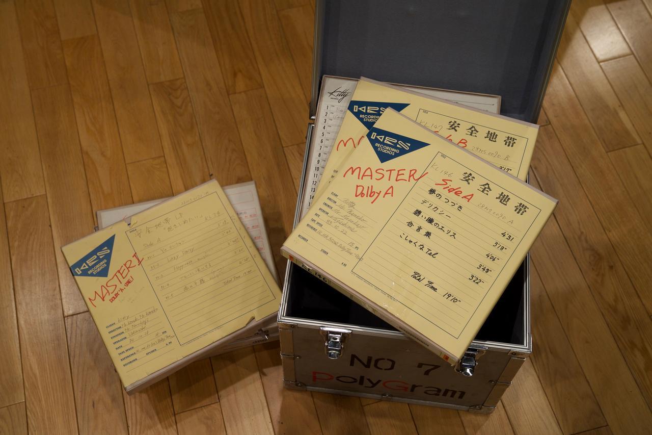 画像: 厳重に保管されていた、1980年代のアナログマスターテープは、いずれもコンディションは良好であった