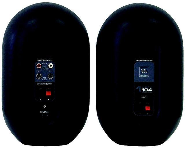 画像: 104-Y3の背面。左がマスタースピーカーとなる。右はエクステンションスピーカー(パッシブスピーカー)