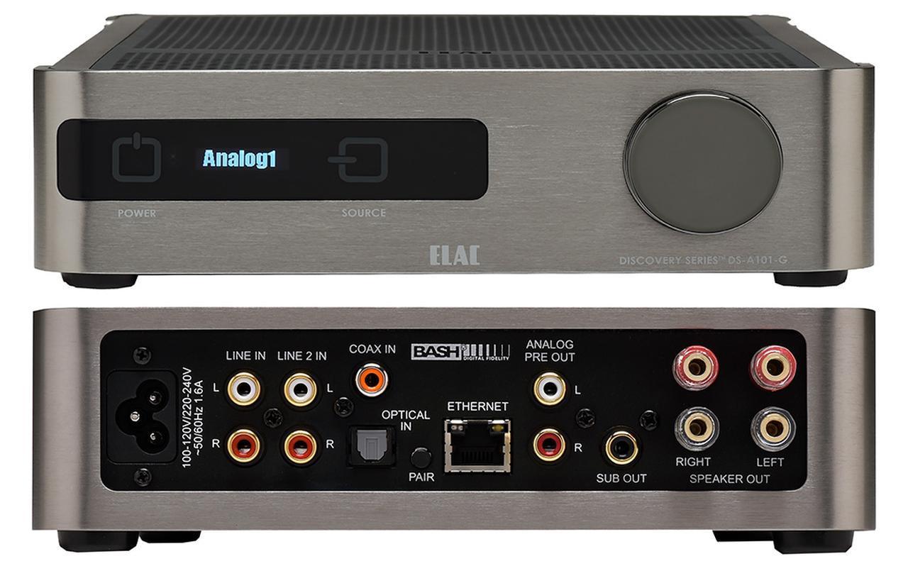 画像: 幅214mmのハーフサイズのボディに多種多様な機能を盛り込みつつ、高音質を追求したプリメインアンプ。80W(8Ω)のステレオ出力を備えたAB級増幅回路を基本に、同軸/光/LANのデジタル入力を搭載。無線LANおよび有線LAN入力では、DLNA、AirPlay、Spotifyのほか、音楽再生/管理の統合ソフト、Roon(ルーン)に対応し、多彩な音楽再生のアウトプットとして機能する。なお、Roon使用時には、外部のRoon Server(PCや専用機など)やインターネット回線、操作用アプリをインストールした端末などが必要となる。2.1chプリアウトも装備しており、自動測定機能「Auto Blend」機能を使って、L/Rスピーカーとサブウーファーとを的確に連携させた低域増強が可能なのも特徴だ