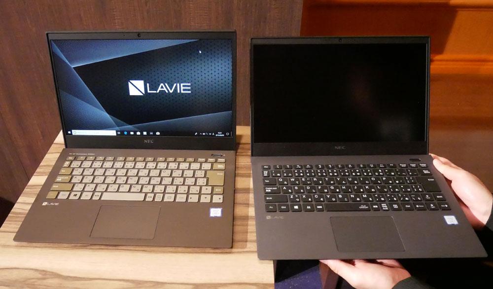 画像: アニバーサリーモデル「LAVIE Pro Mobile PM750/NAA」(左)とオリジナルモデル