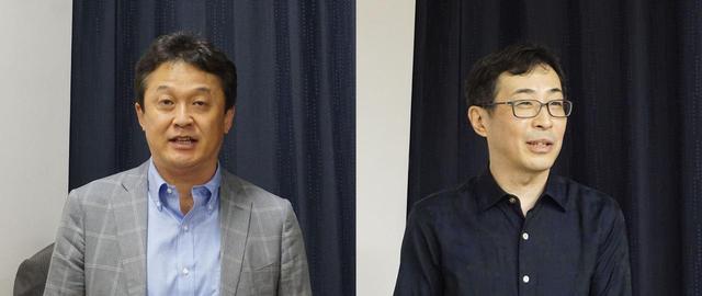 画像: ディーアンドエムホールディングス 代表取締役の中川圭史氏(左)と、サウンドマネージャーの山内慎一氏(右)