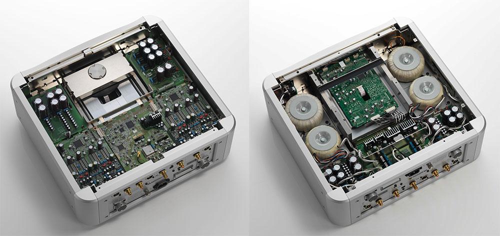 画像: 内部コンストラクション。写真左は上側で、右は下側の様子
