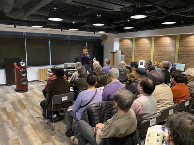 画像: 2019年3月の特別試聴会では、ステレオ編集長による講演が行なわれ、6階特設会場は満員御礼となった。 前回の模様はこちら online.stereosound.co.jp