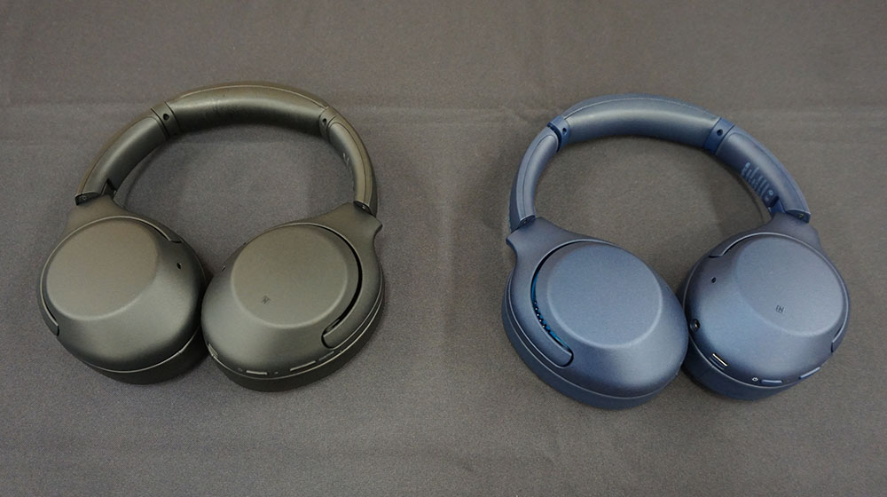 画像: アラウンドイヤー型の「WH-XB900N」。カラリングはブラックとブルー