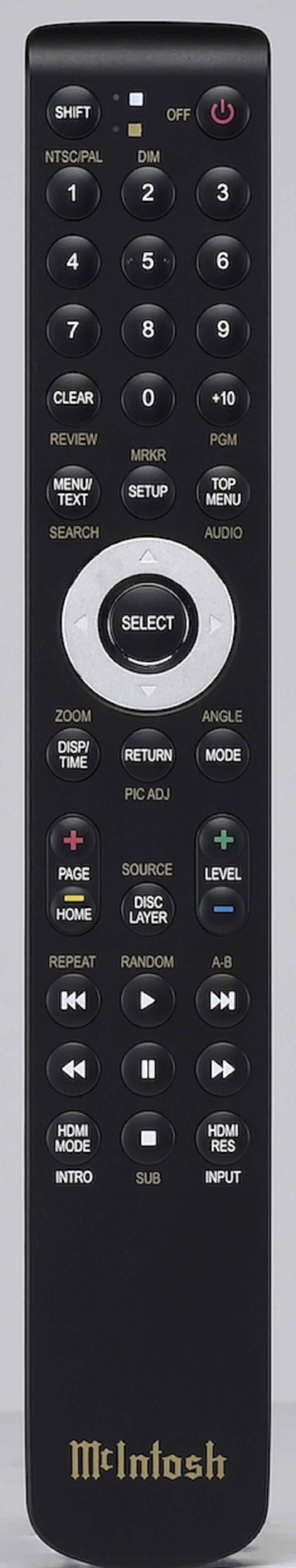 画像: 10キーを備えた付属リモコン。