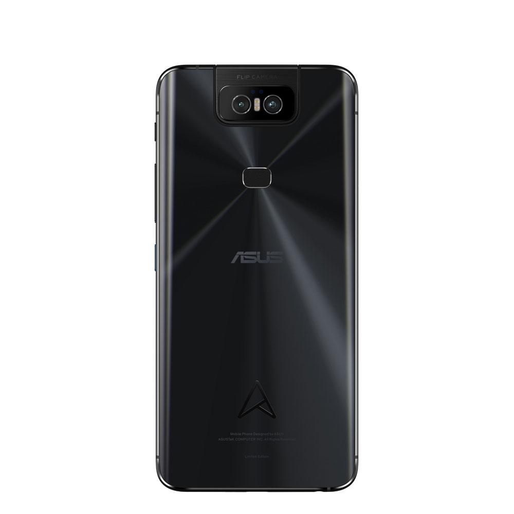 画像: ZenFone 6 Edition 30。背面にスピン加工が施されている