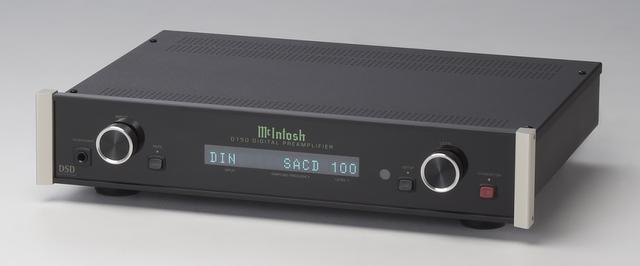 画像: デジタルプリアンプ マッキントッシュ D150 ¥400,000(税別) ●デジタル入力:RCA同軸、TOS光、USB、MCTデジタル ●デジタル入力サンプリングレート:192kHz/24bit(RCA同軸、TOS光)、SACD(MCTデジタル)、384kHz/32bit、 DSD128、DXD384(USB) ●寸法/重量:W445×H98×D357mm/6.1kg
