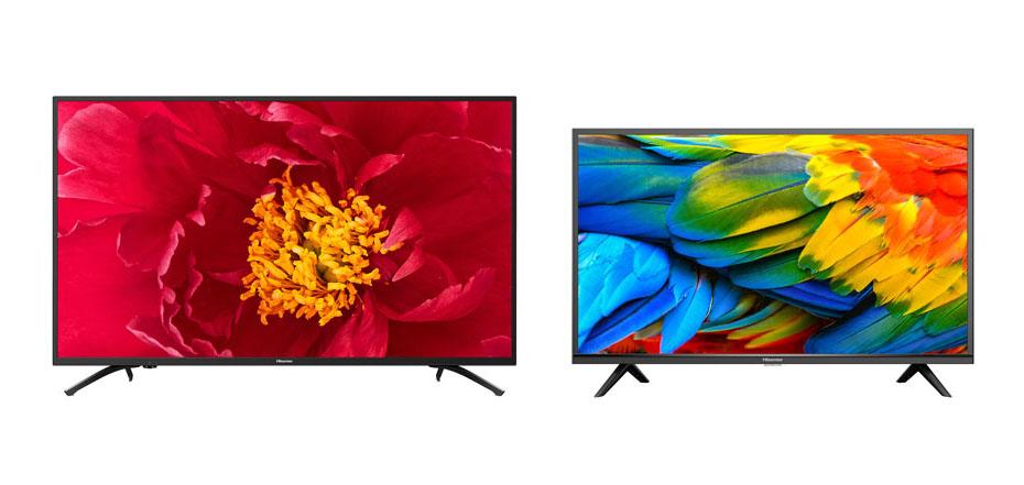 画像: 4K対応の「50F60E」(左)と、フルハイビジョン仕様の「40H30E」(右)