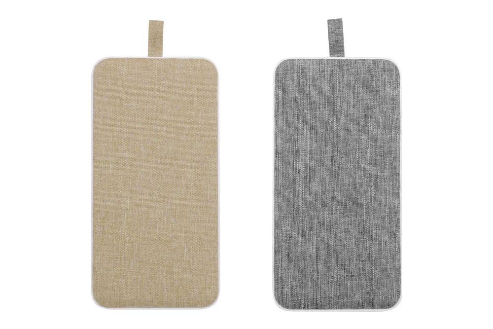画像: モバイルバッテリー「OWL-LPB10009」。ベージュとグレーの2色をラインナップする
