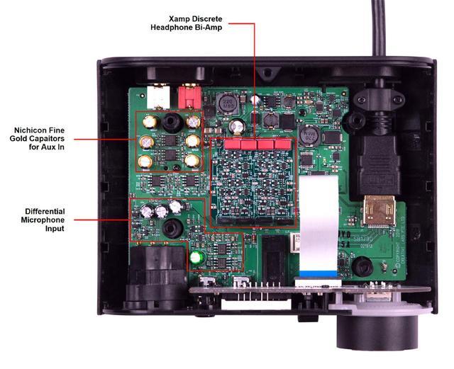 画像: AE-9付属のオーディオ・コントロール・モジュール(ACM)の内部。オーディオ的な作り込みがされている