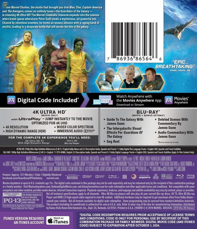 画像2: 10月の4Kマーベル・シネマティック・ユニバース『ガーディアンズ・オブ・ギャラクシー』『アントマン』『ドクター・ストレンジ』【海外盤Blu-ray発売情報】