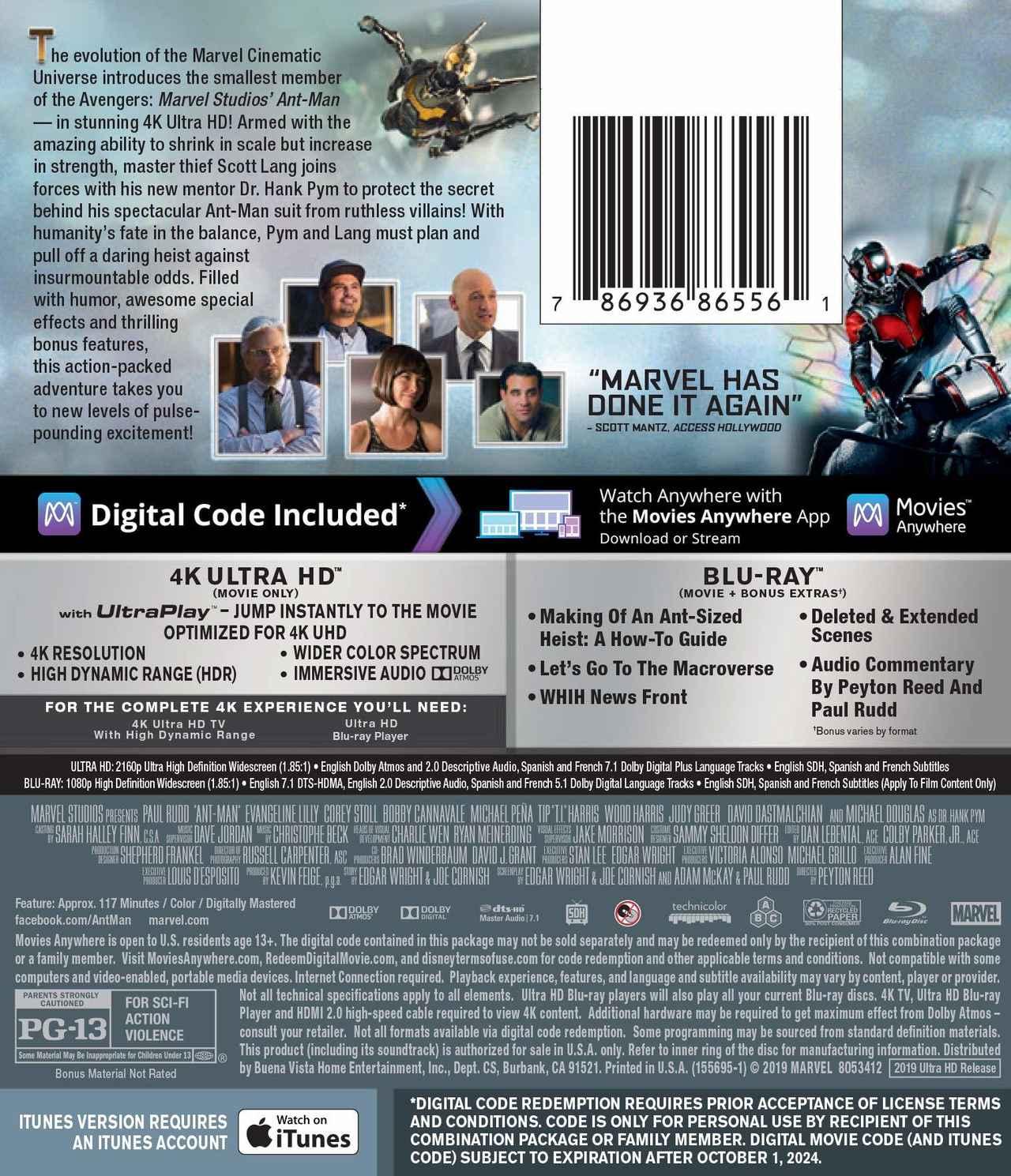 画像4: 10月の4Kマーベル・シネマティック・ユニバース『ガーディアンズ・オブ・ギャラクシー』『アントマン』『ドクター・ストレンジ』【海外盤Blu-ray発売情報】