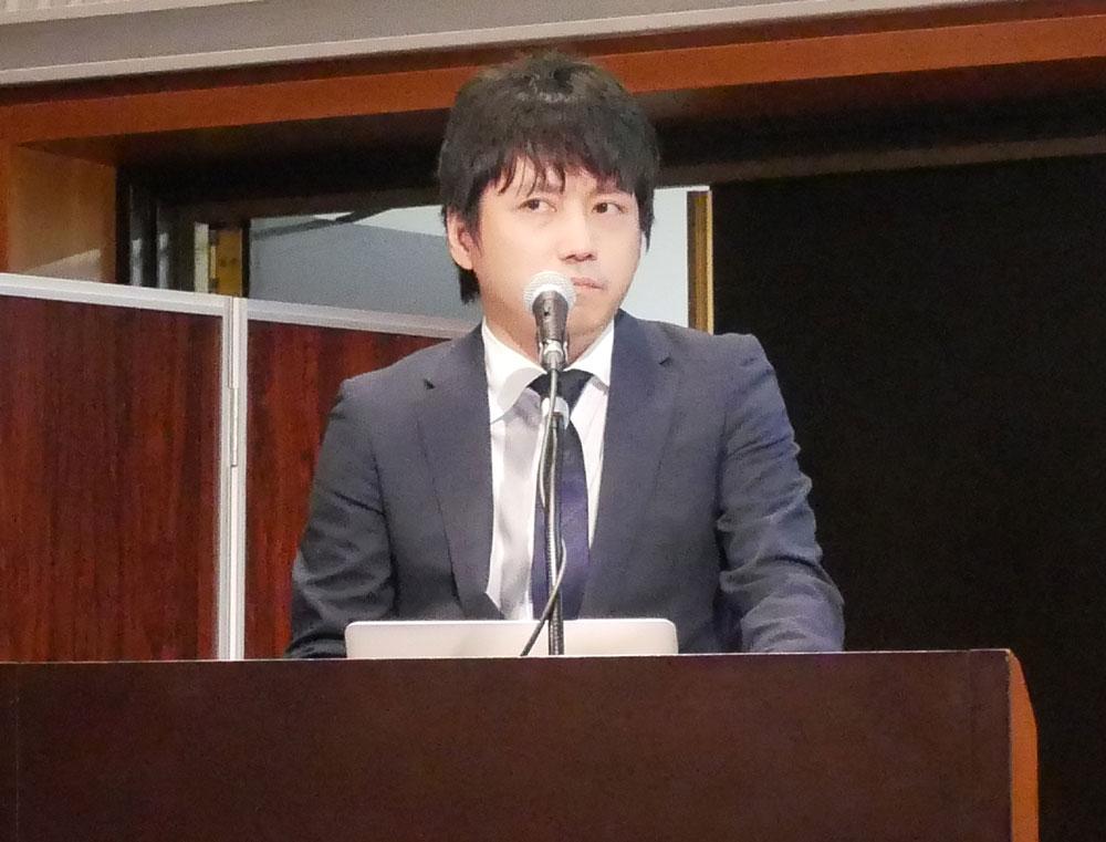 画像: これからのブランド戦略について説明を行なうピクセラ 副社長 兼 A-Stage 代表取締役社長の藤岡毅氏