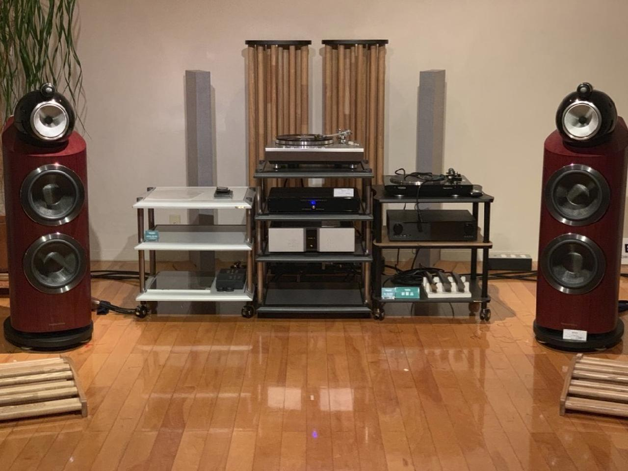 画像: WE4700の試聴で使われるオーディオシステム。先ほど、音の最終調整が終了。とてもいい音に仕上がった