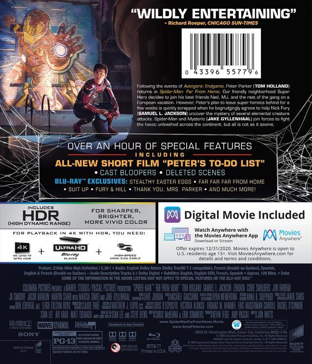 画像2: 新生スパイダー・マン・シリーズ第2弾『スパイダーマン:ファー・フロム・ホーム』【海外盤Blu-ray発売情報】