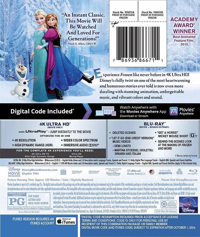 画像2: 大人気ディズニー・メガヒット・アニメーション『アナと雪の女王』【海外盤Blu-ray発売情報】