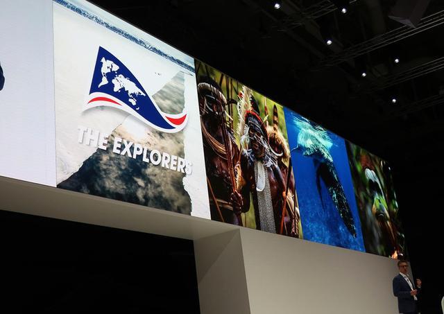 画像: サムスンエレクトロニクスのプレス・カンファレンス。フランスThe Explorersの8K自然映像がOTTで見られる