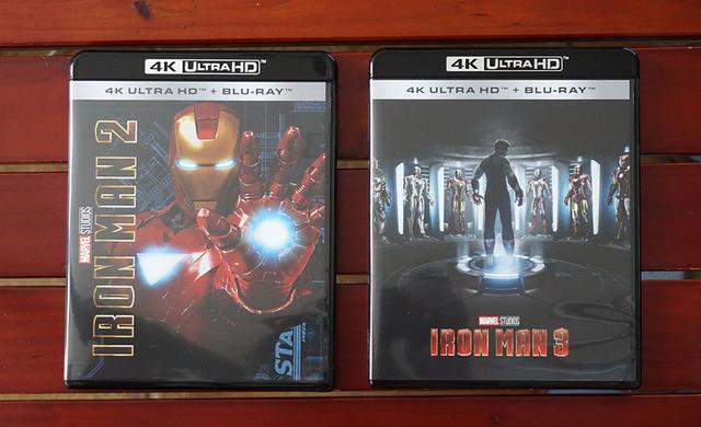 画像: 『アイアンマン2 4K UHD』¥6,000(税別)と『アイアンマン3 4K UHD』¥6,000(税別)