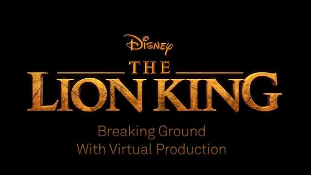 画像: The Lion King - Breaking Ground with Virtual Production www.youtube.com