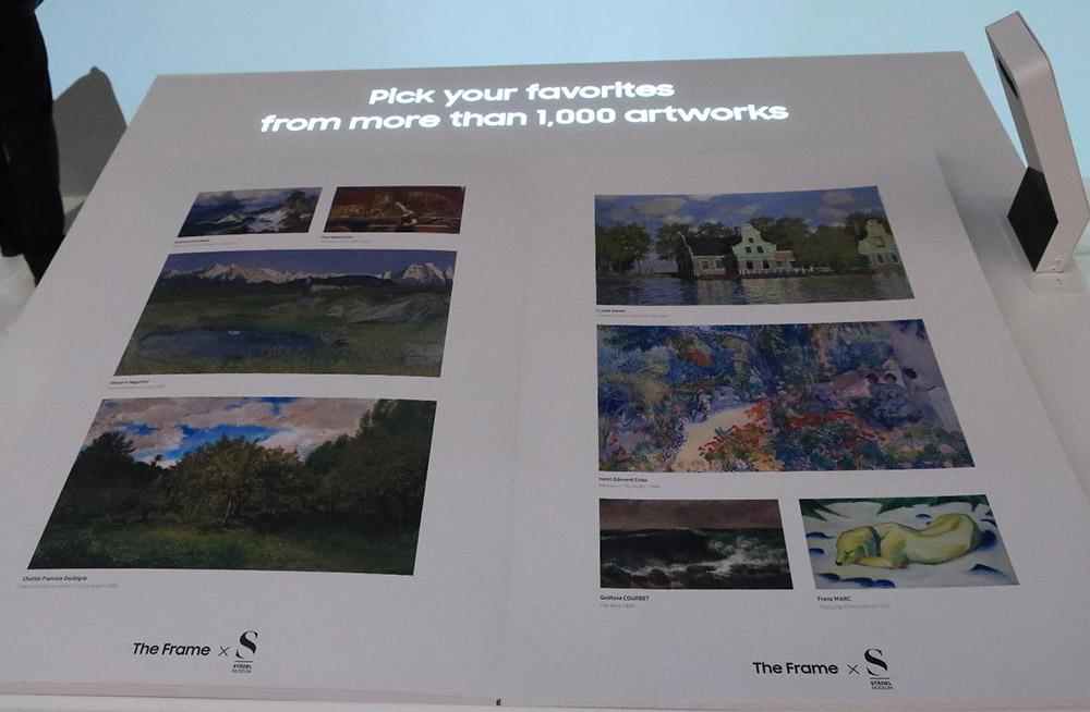 画像: 美術館テレビ「The Frame」。写真集もダウンロードできる