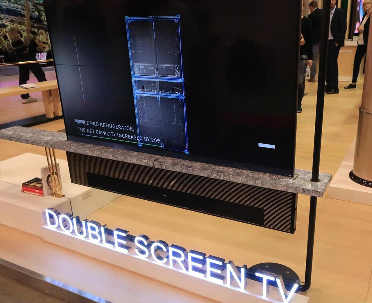 画像1: 中国の長虹Changhongは、ダブルスクリーンテレビとアートテレビ