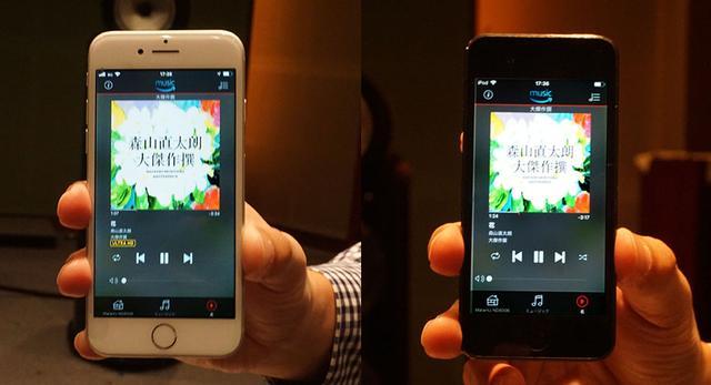 画像: Amazon Music HDを契約したスマホ(左)と未契約のもの(右)。同じ曲を再生してみると、左ではジャケット左下に「ULTRA HD」の文字が表示された
