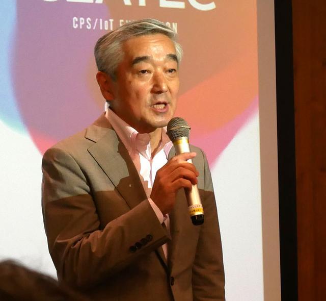 画像: 今年の取り組みについて説明する、CEATEC JAPAN実施協議会 エグゼクティブプロデューサーの鹿野 清氏