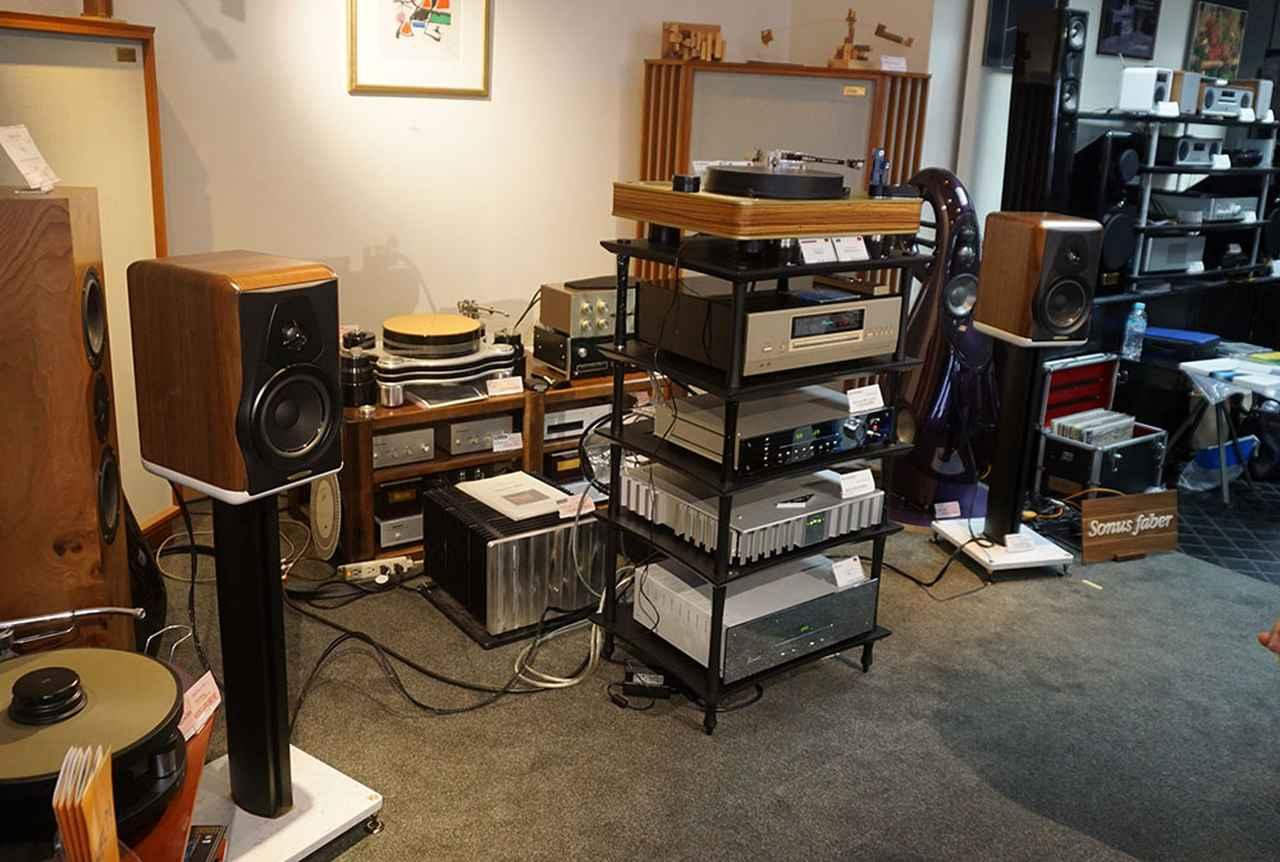 画像: 今回の試聴システム。CD再生時にはアキュフェーズのDP-75を使っていた