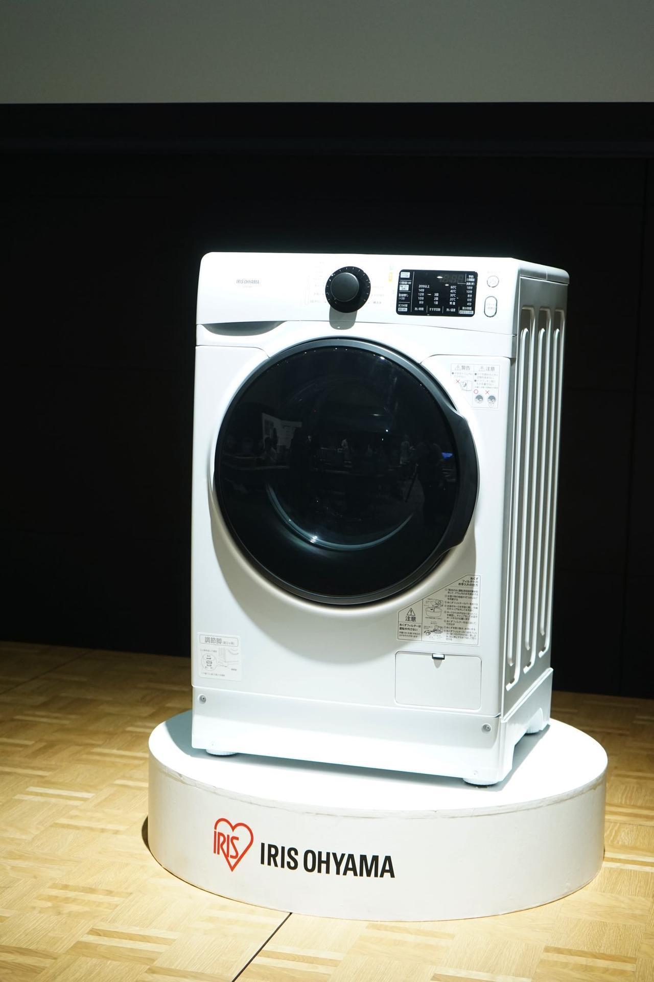 画像: テスト販売を行なって好評を得てきたドラム式洗濯機の新製品(HD81AR)も発表された。値ごろ価格(実売税抜価格¥128,000)を実現している