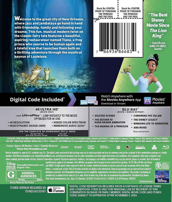 画像5: 11月のディズニー4Kアニメ『モアナと伝説の海』『塔の上のラプンツェル』『ベイマックス』『ズートピア』『プリンセスと魔法のキス』【海外盤Blu-ray発売情報】