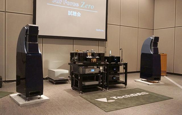 画像: ウィルソンオーディオのALEXXといったハイエンド機器との組み合わせで音をデモ