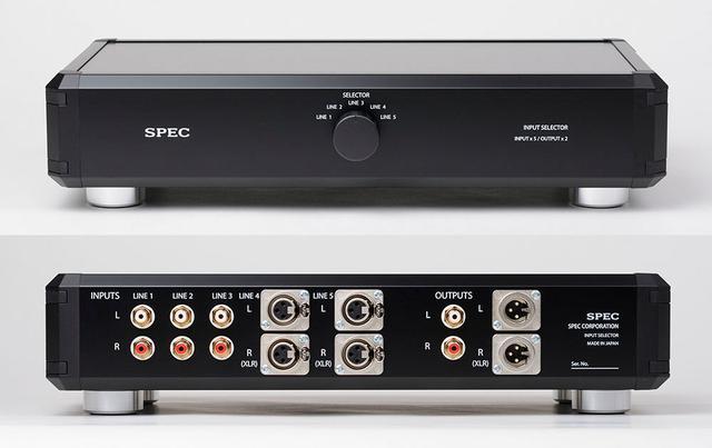 画像: スペックのラインセレクターブラックバージョン「H-SL55」が10月に発売。RCAとXLRの同時出力に対応し、価格は¥90,000