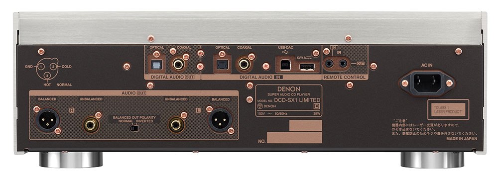 画像: DCD-SX1 LIMITEDの背面端子