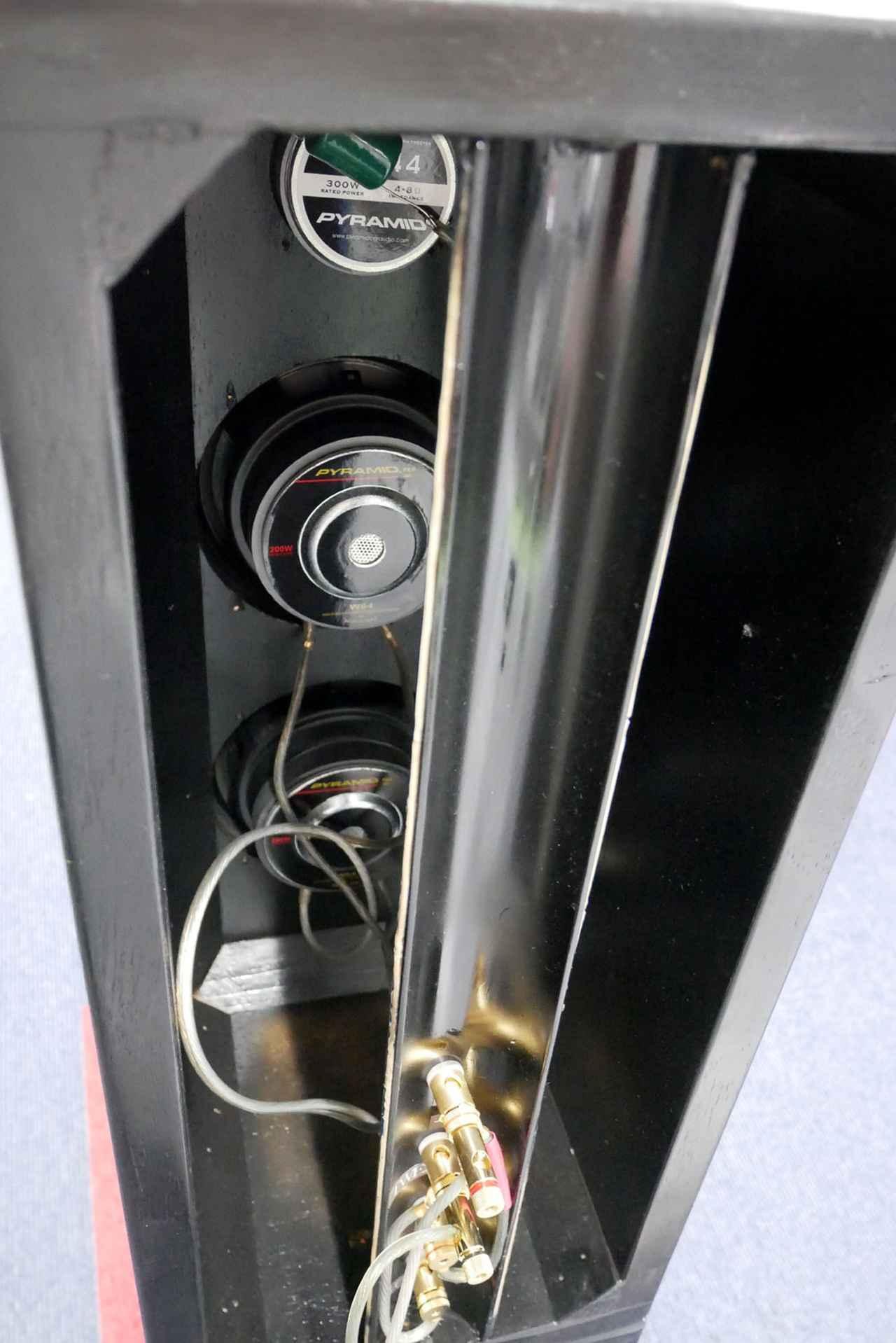 画像: ▲開放型なので、背面からはユニットが見える