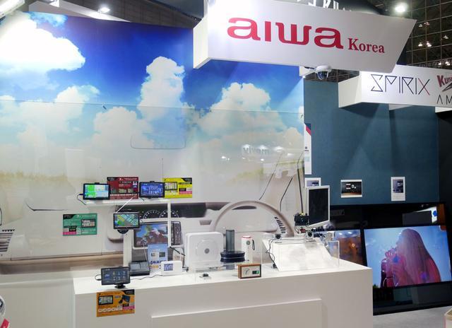 画像: ▲アイワは昨年に続いてブースを展開。テレビ、ラジオなど各種取り扱い製品を展示していた。今後は、韓国で展開しているカー用品などを、「aiwa Korea」として日本国内に導入する予定という