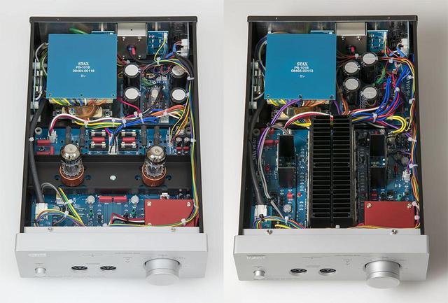 画像: 左が真空管式の「SRM-700T」で右は半導体式の「SRM-700S」